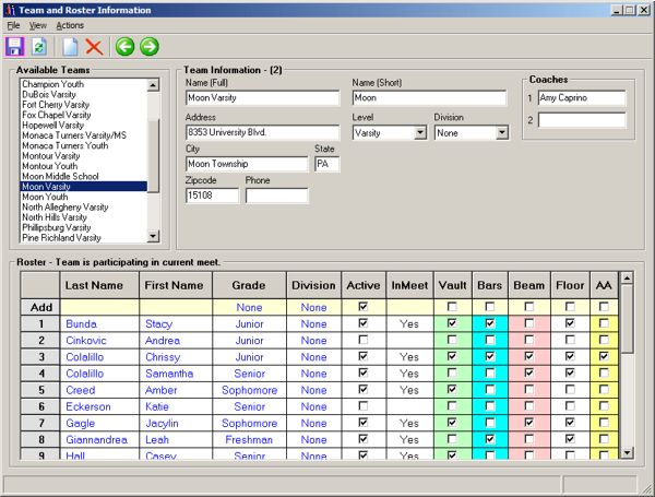 Gagle Software - 4Events Gymnastics Scoring System